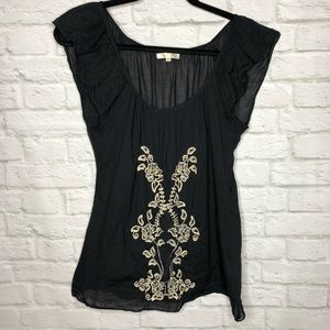 Matty M Embroidered Blouse